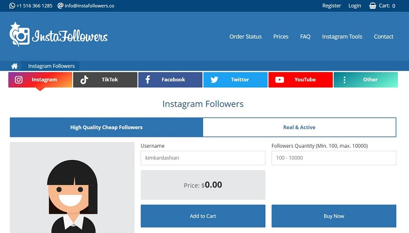 InstaFollowers Real Instagram Followers Paid Buy