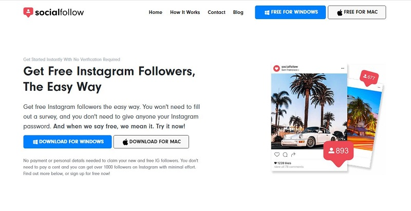 SocialFollow Free Instagram Followers and Likes