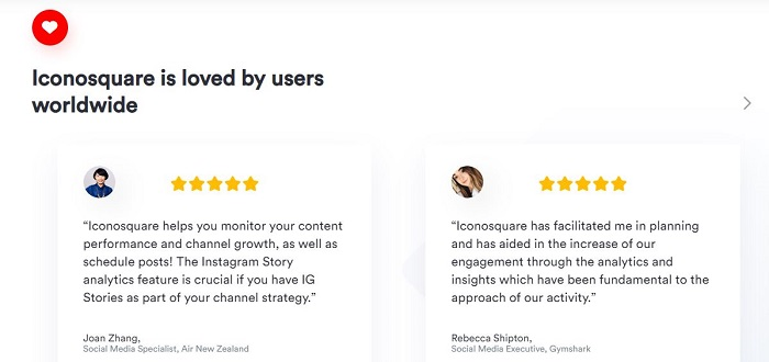 Iconosquare customer reviews