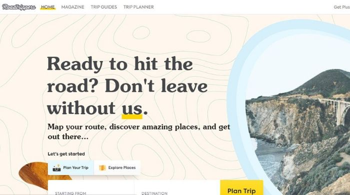 Google Trips Alternative - Roadtrippers