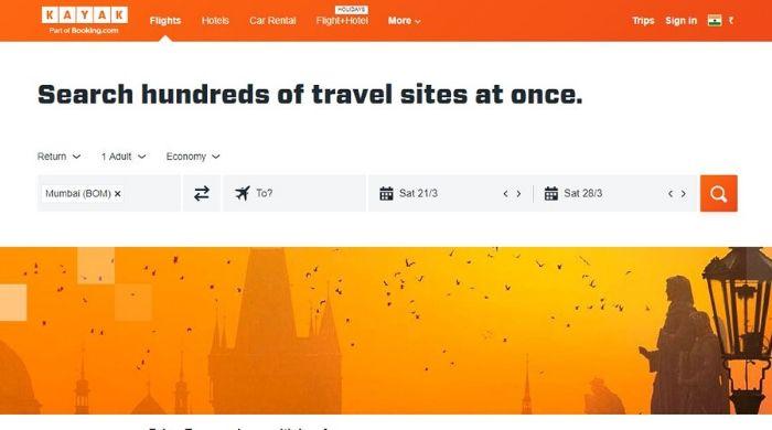 Kayak - Best Google Trips Alternatives