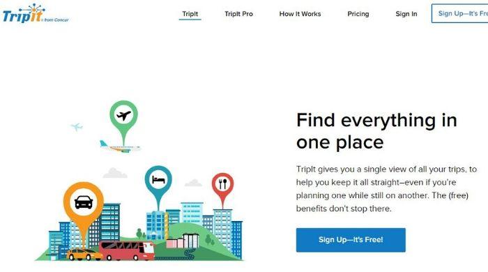 TripIt - Best Google Trips Alternative