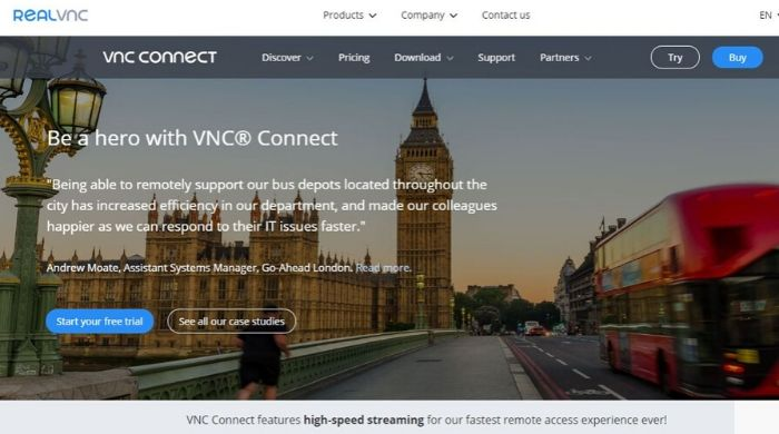 VNC Connect - alternative to teamviewer