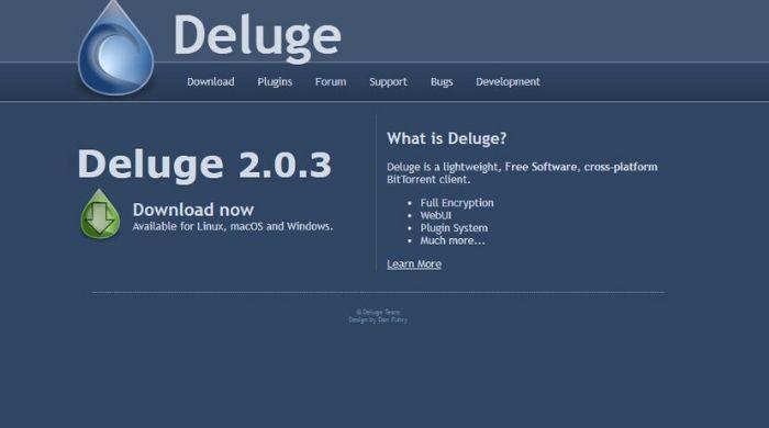 Deluge - uTorrent Alternatives