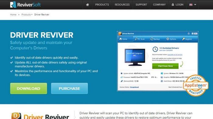 Driver Reviver - online driver update software