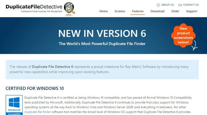 Duplicate File Detective 6 - Duplicate file finder tool for windows