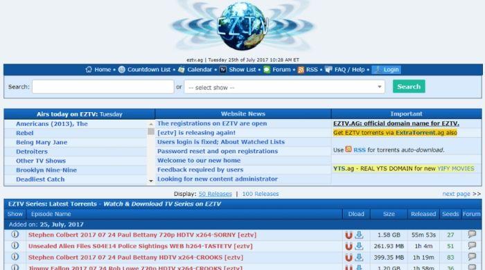 EZTV - Torrent Site