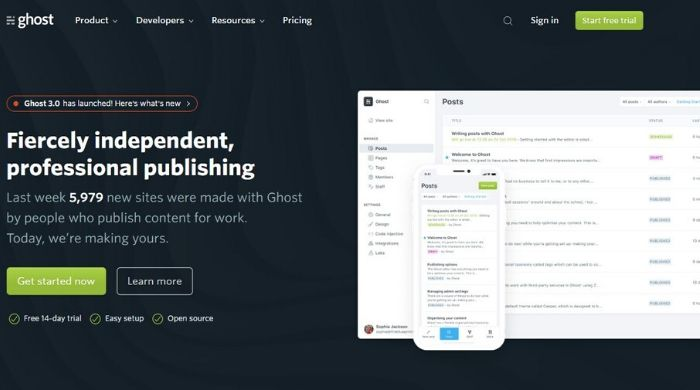 Ghost.org - Best Tumblr alternative