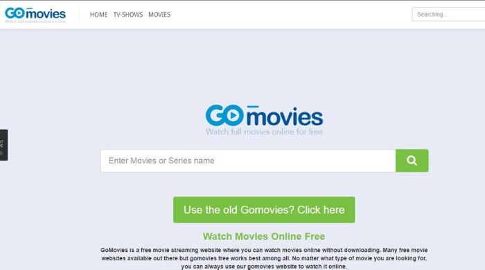 GoMovies - Megashare alternative