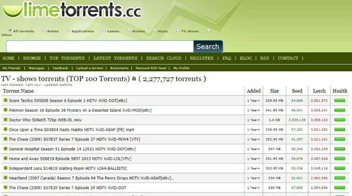 Limetorrents - Online torrent website download