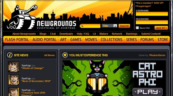 Newgrounds - New Tumblr Site