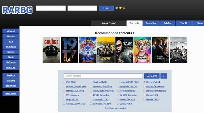 Rarbg.to - Online Torrent Site