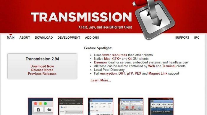 Transmission - uTorrent Alternatives