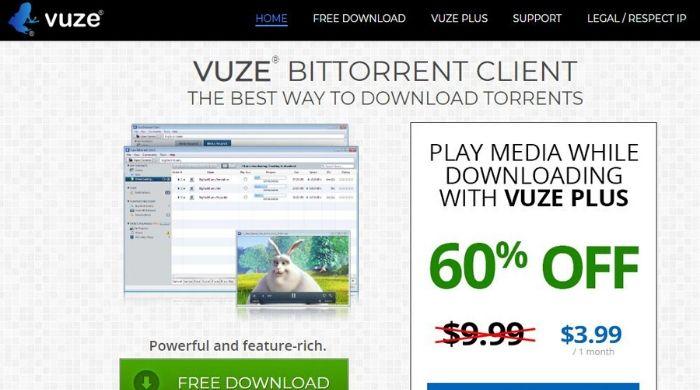 Vuze - uTorrent Alternative