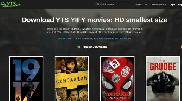YTS - Best Online Torrent Website