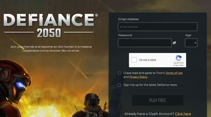 Defiance 2050 - MMORPGs Game Online