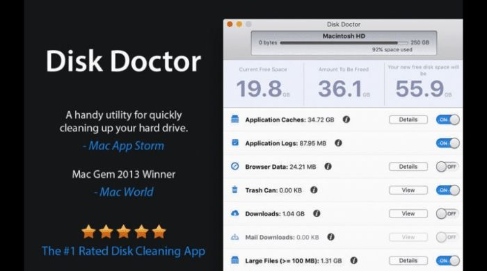 Disk Doctor - Best Paid Mac Cleaner App