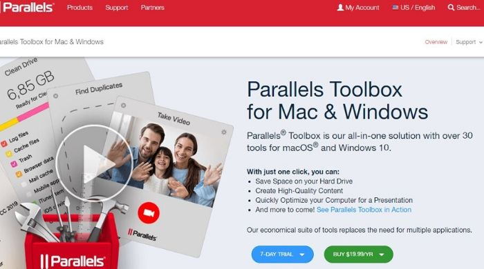 Parallels Toolbox - Best Mac Cleaner Software