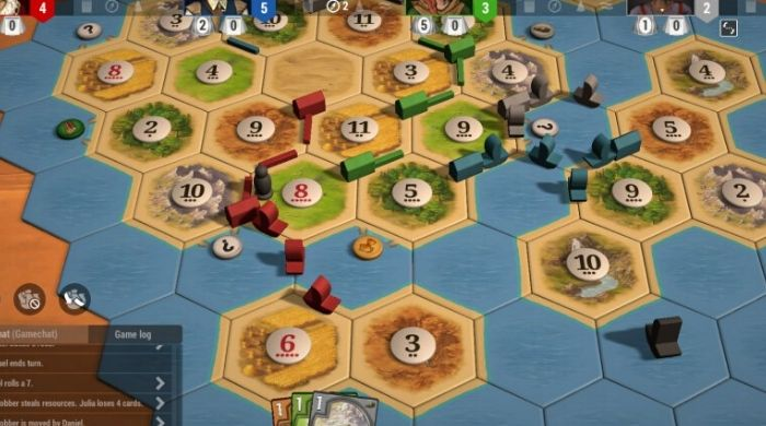 Settlers of Catan online board game