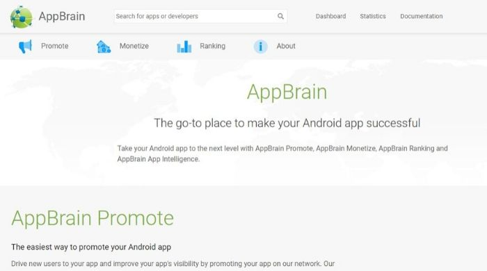 App Brain - Alternative to play store
