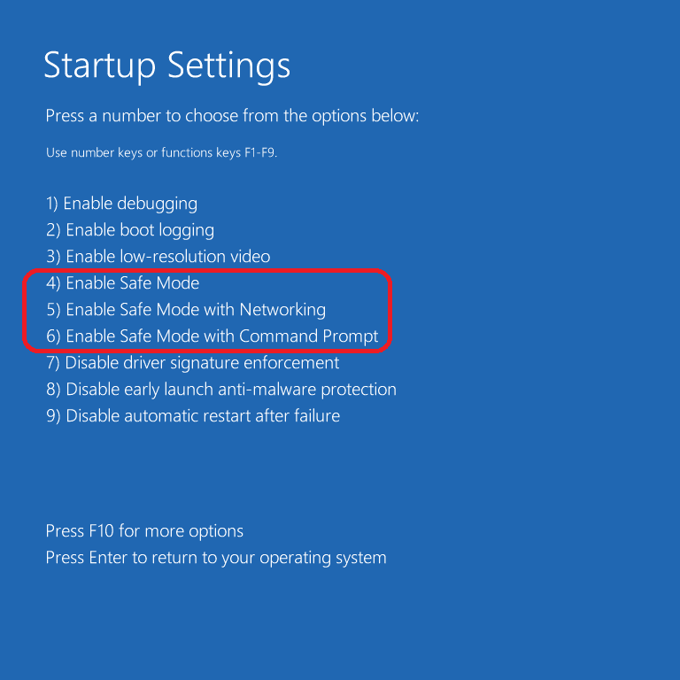 Booting Your Windows 10 In Safe Mode