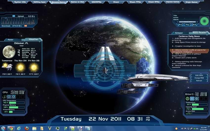 Mass Effect Rainmeter
