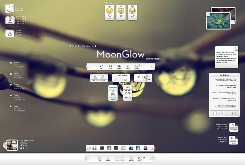 MoonGlow Rainmeter