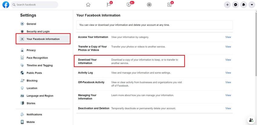 Restoring Deleted Messages on Facebook