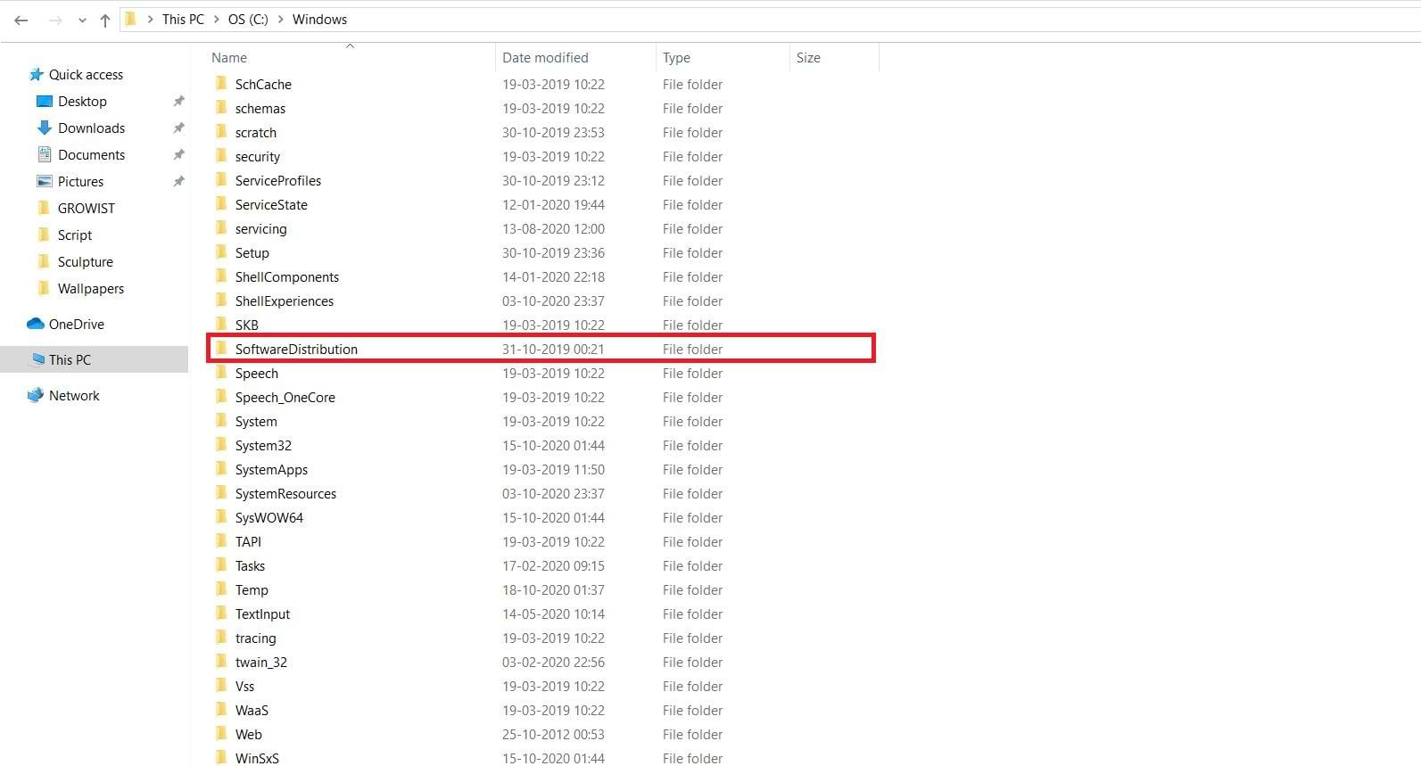 Software Distribution Folder Naming