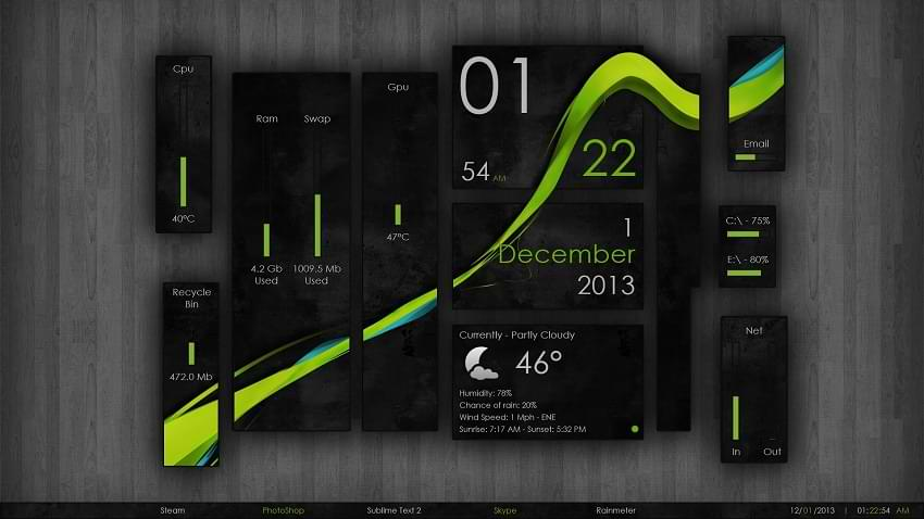 Wisp Rainmeter Skin Android